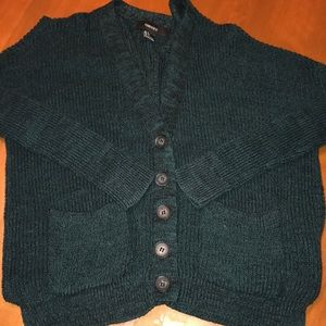 Forever 21 forest green size small cardigan.